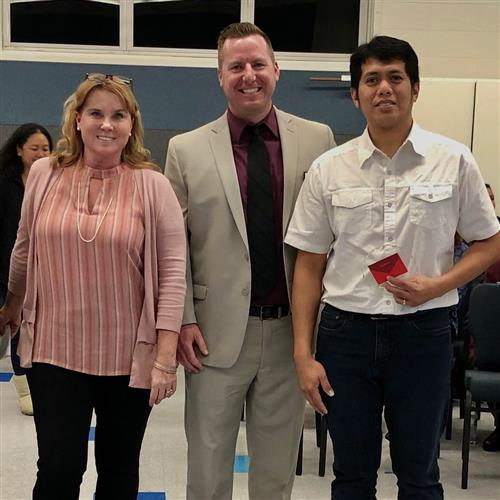Cris Sabilla Recognized at PVSD Board Meeting