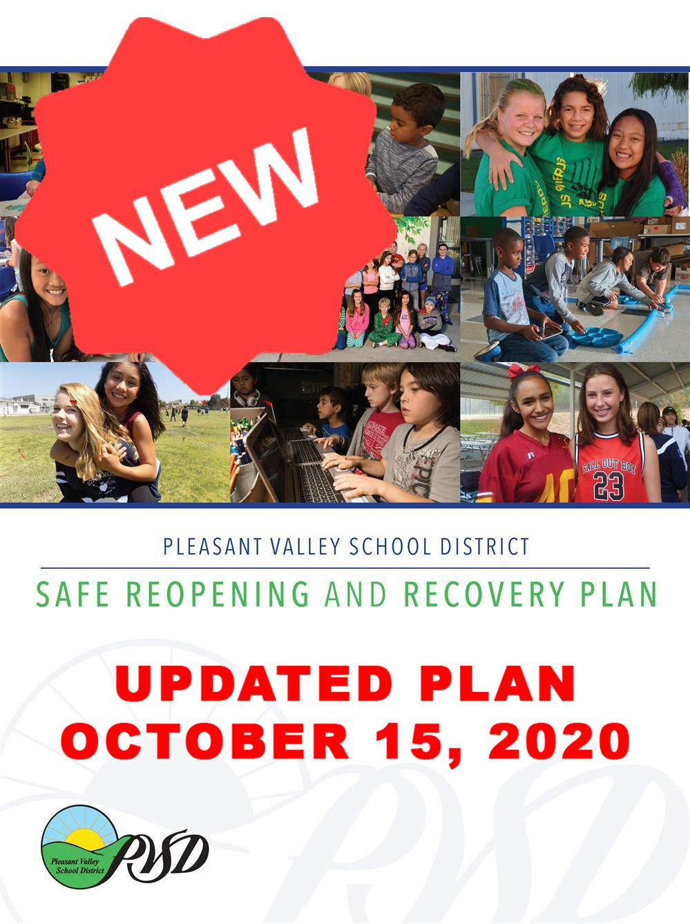 PVSD Safe Reopening and Recovery Plan (Updated 10/15/2020)