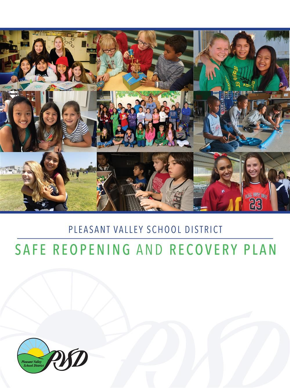 PVSD Safe Reopening and Recovery Plan (School Board Approved 7/30/2020)